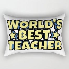 World's Best Teacher Rectangular Pillow
