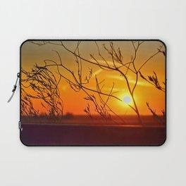 Sunset through the bushes Laptop Sleeve