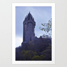 William Wallace Monument in Scotland Art Print
