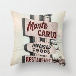 Monte Carlo Throw Pillow
