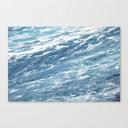 Ocean Water Waves Foam Texture Canvas Print
