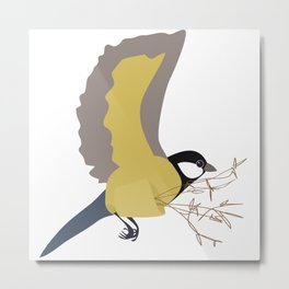 Bæremeis (Great tit carrier ?  :)   ) Metal Print