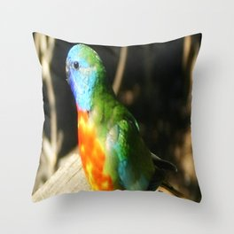 Australian Native Birds Throw Pillow