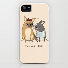 French Kiss iPhone Case