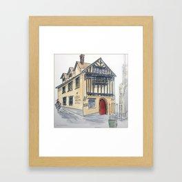 Beer Garden Pub Framed Art Print