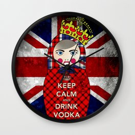 Keep Calm and Drink Vodka Matryoshka Wall Clock