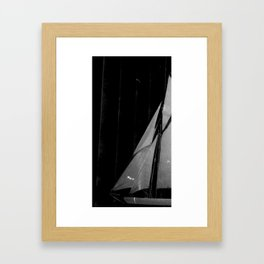 And ships are going... Framed Art Print