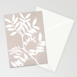 Farmhouse botanical lilac and white floral handmade print 7 Stationery Cards