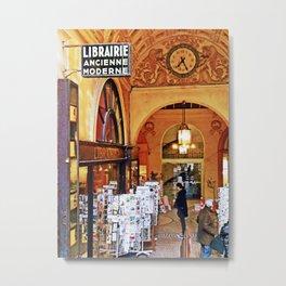 Paris Bookshop Metal Print