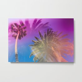Palm Tree Skyline Metal Print
