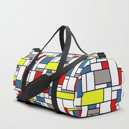Mondrian style pattern Duffle Bag
