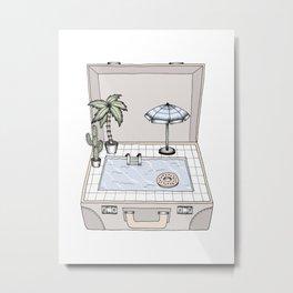 Pool To Go Metal Print