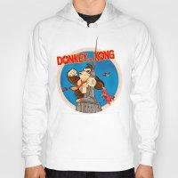 donkey kong Hoodies featuring Donkey King Kong by Vickn