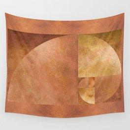 Golden Ratio, Golden Spiral Art Wall Tapestry