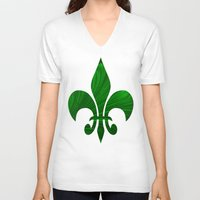 renaissance V-neck T-shirts featuring Renaissance Green by Charma Rose