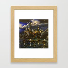Castel at Starry night Framed Art Print