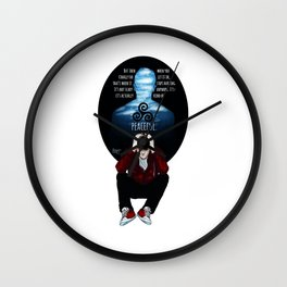 Sterek Drowning print Wall Clock