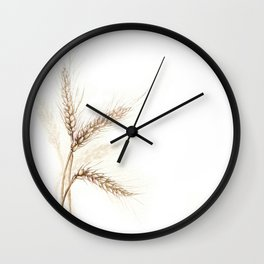 Wheat (Watercolor painting) Wall Clock
