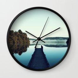 Gloomy dock Wall Clock