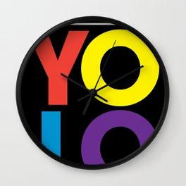 YOLO: Love. Wall Clock