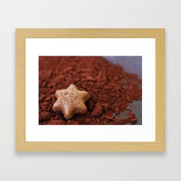 Chocolate Star and Cocoa Framed Art Print