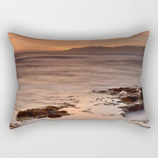 """Last red light"" Sunset at the sea Rectangular Pillow"