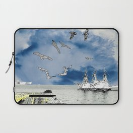 silver ships and golden dock Laptop Sleeve