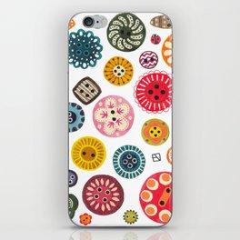 Vintage Button Love iPhone Skin