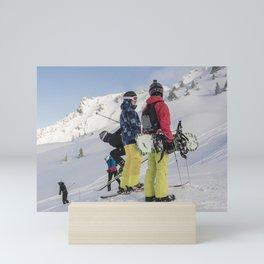 Skiers 2017 Mini Art Print