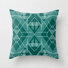 Illuminati Forest Green Throw Pillow