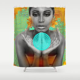 Supermodel Donyale 3 - Supermodels of the Sixties Series Shower Curtain