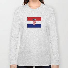 Flag of croatia -croatian, Hrvatska,croat,croacia,Zagreb,split,rijeka,osijek. Long Sleeve T-shirt