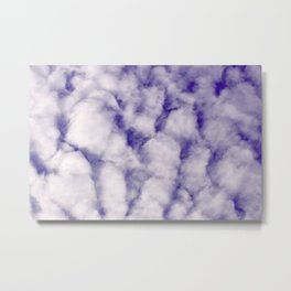 FLUFFY CLOUDS - BLUE SKY Metal Print