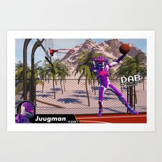 Dab On A Dunk Art Print