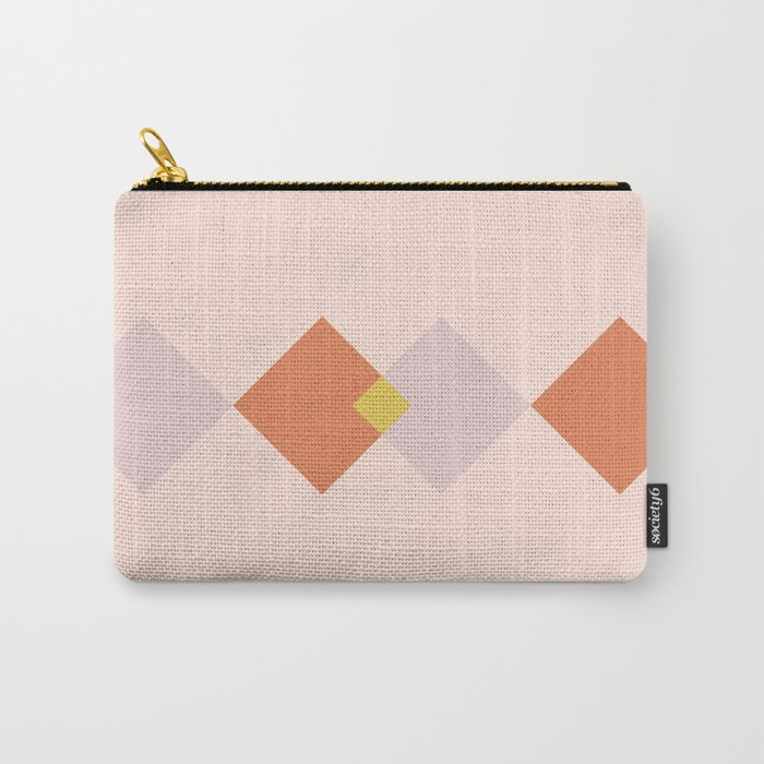 Vintage Geometric Diamonds - Tulip Carry-All Pouch