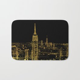 Abstract Gold City  Skyline Design Bath Mat