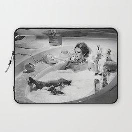 Brigitte Bardot in Tub, Black and White Laptop Sleeve