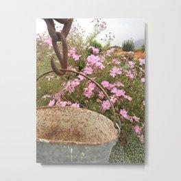 Bucket of Flowers Metal Print