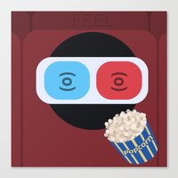 cinema Canvas Prints featuring Cinema by Thomas Official