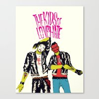 boneface Canvas Prints featuring Kids of Love and Hate by boneface