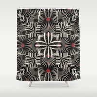 edm Shower Curtains featuring Calaabachti Matrix by Obvious Warrior