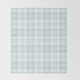 Cozy Plaid in Mint Throw Blanket
