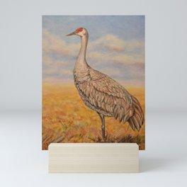 Majestic Crane Mini Art Print