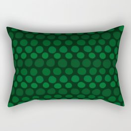 Emerald Green Subtle Gradient Dots Rectangular Pillow