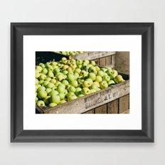 Bushel of Apples Framed Art Print