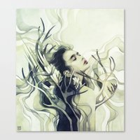 stag Canvas Prints featuring Stag by Anna Dittmann