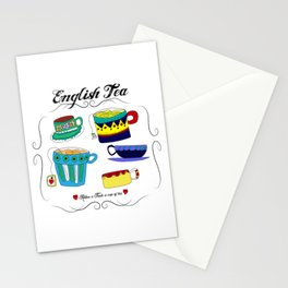 English Tea Cups Stationery Cards