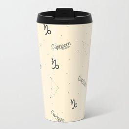 Capricorn Pattern - Beige Travel Mug