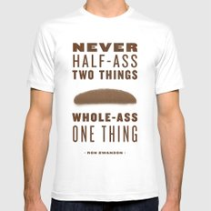 Whole-Ass One Thing White Mens Fitted Tee MEDIUM