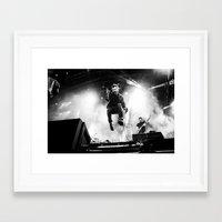 gorillaz Framed Art Prints featuring Damon Albarn (Blur) - I by Tomás Correa Arce (RockMe TommyBoy)